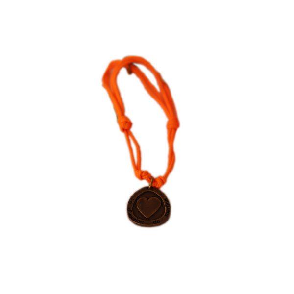 Pulsera naranja bronce