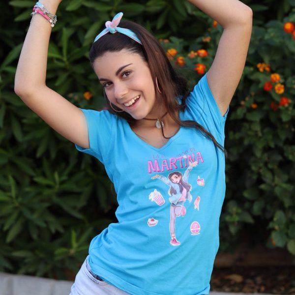 Camiseta azul con avatar